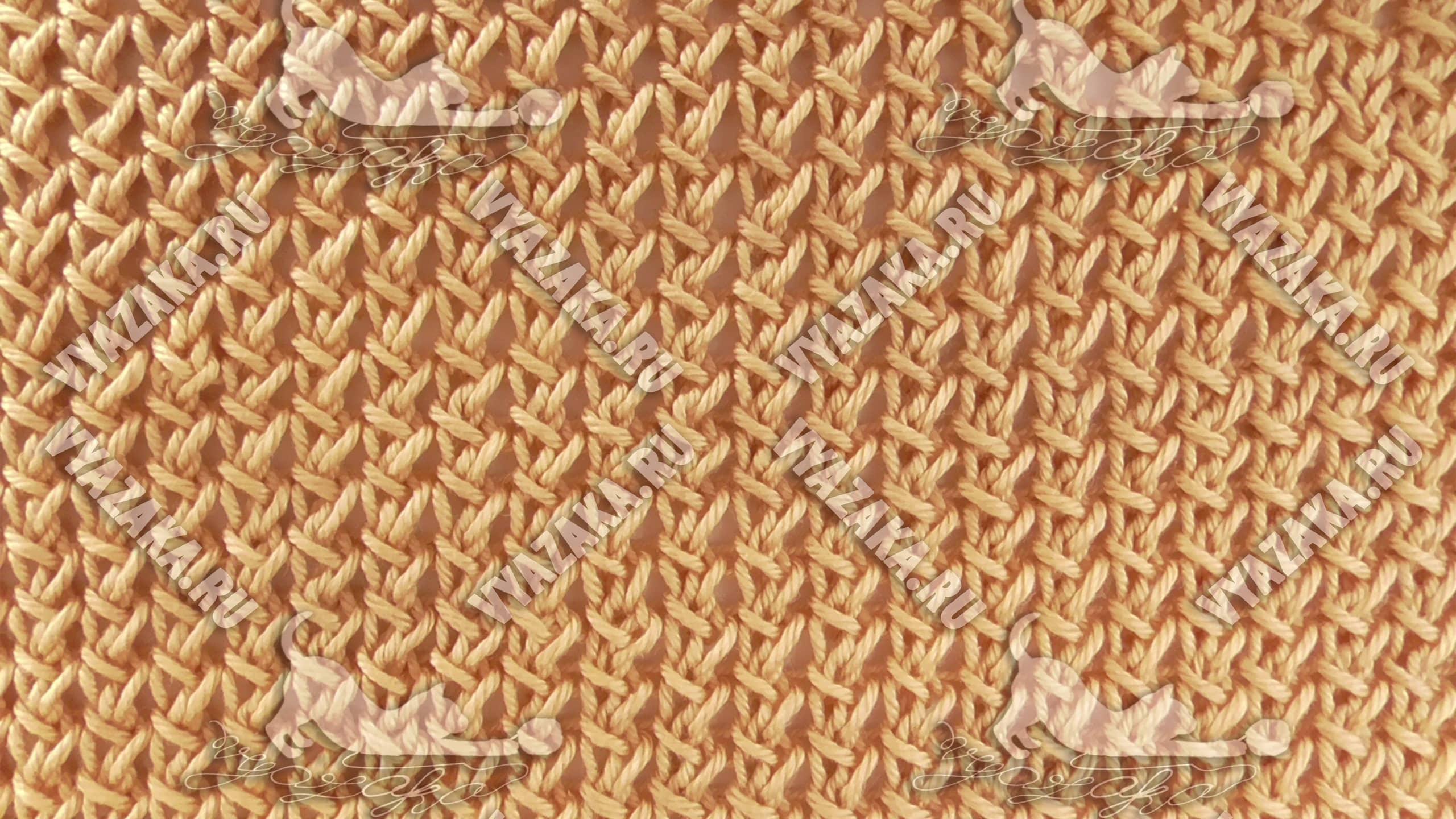 Узор «Ажурная плетёная сетка»