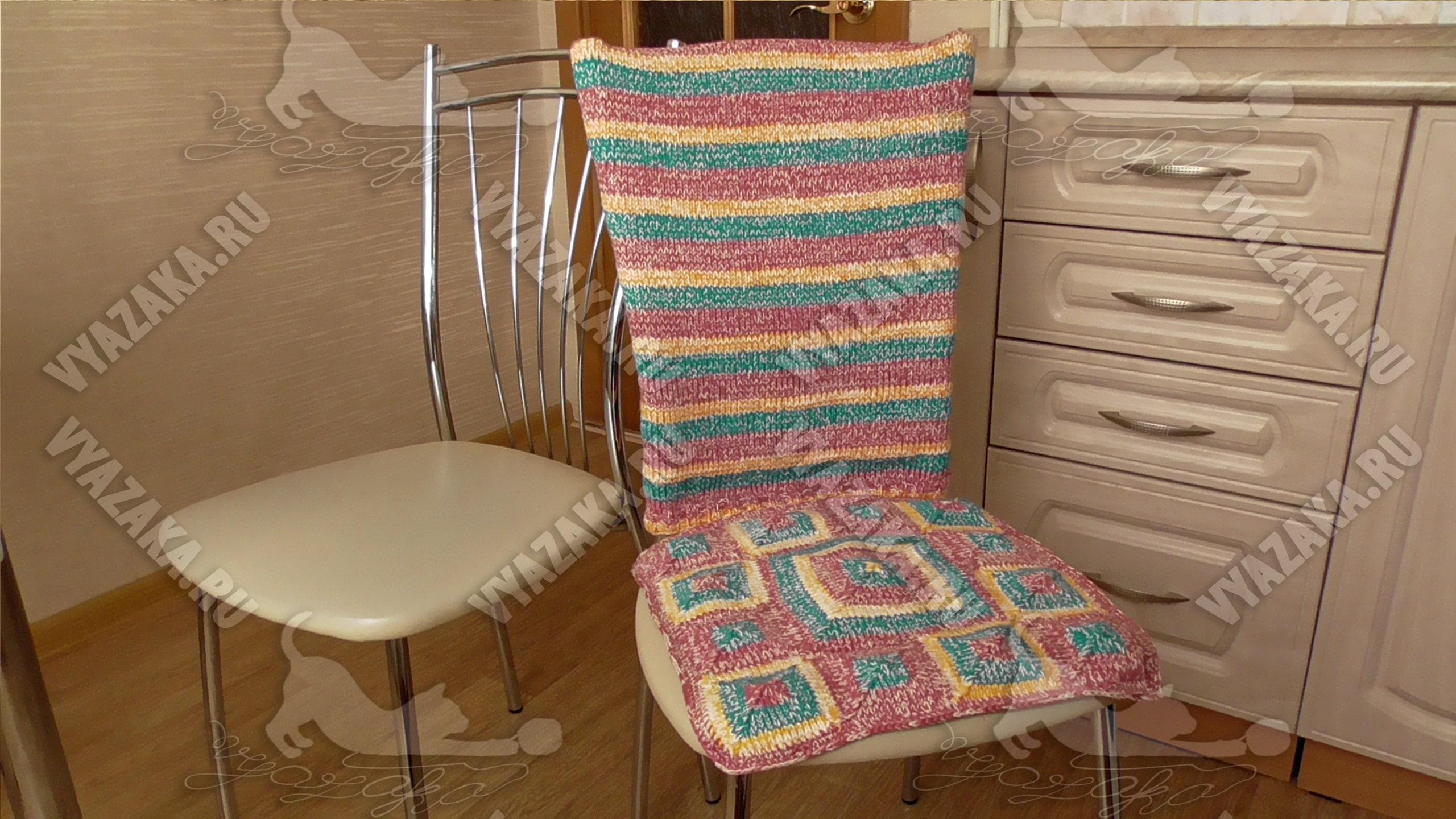 Накидка на стул спицами