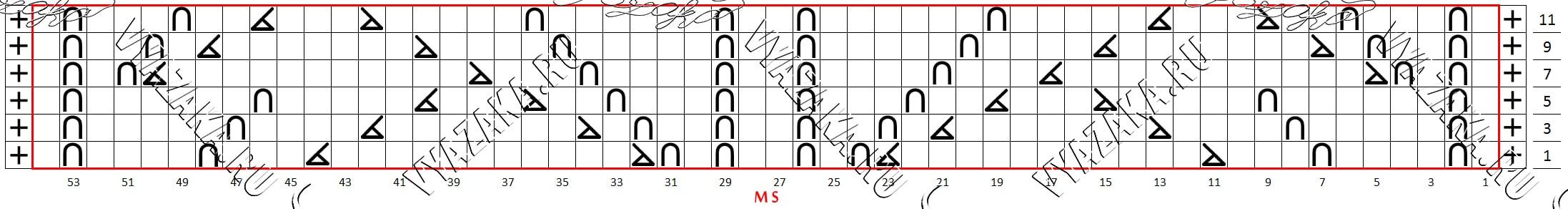 Сложный ажурный узор Миссони