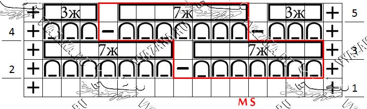 Схема узора «Маргаритки»